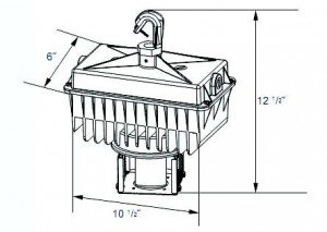 High Bay Induction Light Fixture Dimension Information