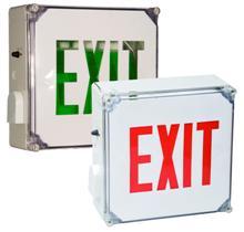 Wet Location LED Exit Sign Battery Backup Units NEMA 3R Rated