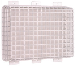 Emergency Lighting Cage protect protects protection against damage and vandalism for exit sign signs and lighting