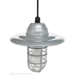 "10"" Hanging Farm Light With 6' Hanging Cord Security Lighting - Farm Lights Industrial Lights"