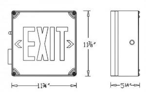Wet Location Led Exit Sign Battery Backup Units