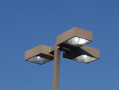 parking lot light light lighting with pole and 3 three lights the 3. Black Bedroom Furniture Sets. Home Design Ideas