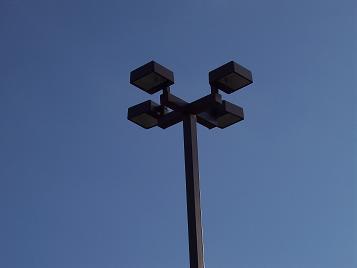parking lot light lights lighting and pole with 4 four lights. Black Bedroom Furniture Sets. Home Design Ideas
